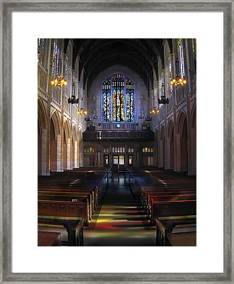 Neo Gothic Nave At St Dominic's Cathedral - San Francisco Framed Print by Daniel Hagerman