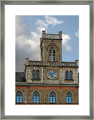 Neo-gothic Weimarer City Hall Framed Print