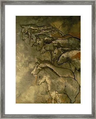 Neolithic Horses Framed Print by John Connaughton