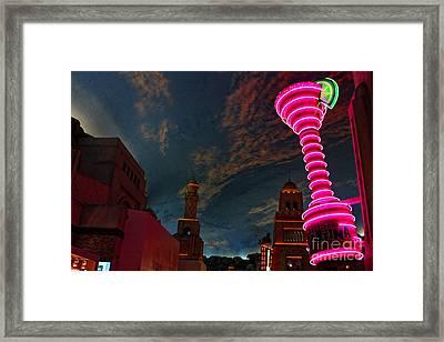 Neon City Framed Print by Billie-Jo Miller