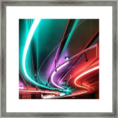 #neon #light #tubular #lighting Framed Print