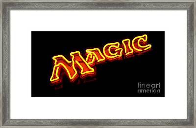 Neon Magic Framed Print by Steven Milner