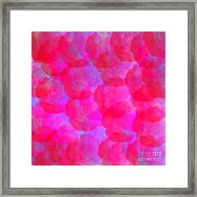 Neon Roses Framed Print by Susan Stevenson