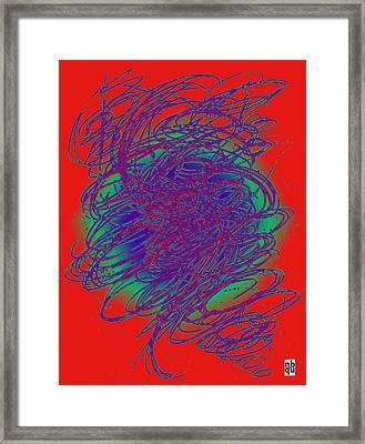 Neon Poster. Framed Print