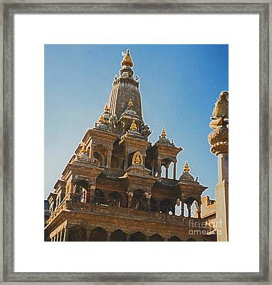Nepal Temple 2 Framed Print by First Star Art