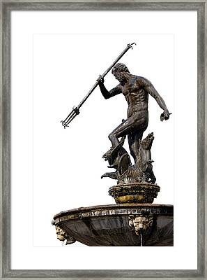 Neptune God Of The Sea Framed Print by Artur Bogacki
