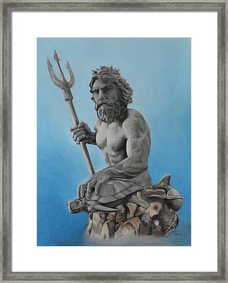 Neptune Framed Print by Miguel Rodriguez