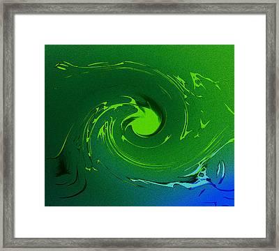 Neptunes Anger Framed Print by Steve K
