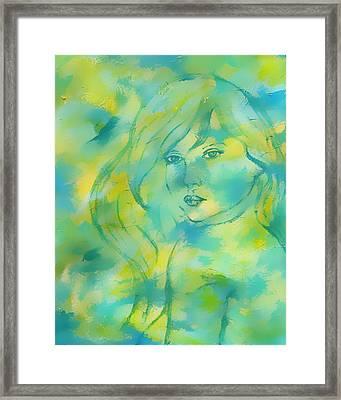 Nerissa  Daughter Of The Sea Framed Print