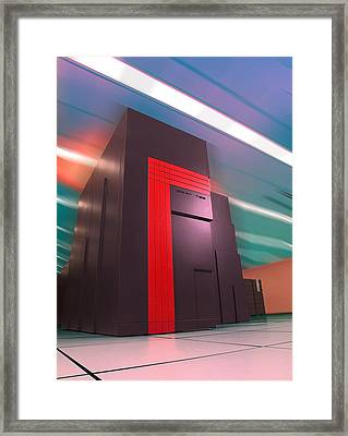 Nersc Supercomputer Framed Print by Lawrence Berkeley National Laboratory