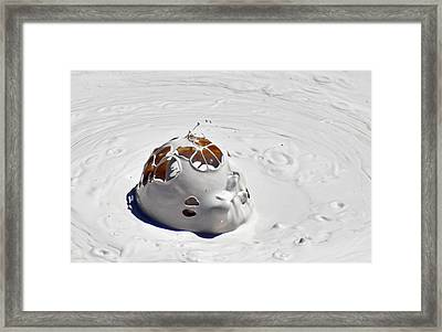 Nesting Mud Bubbles In Yellowstone's Artist Paint Pots Framed Print