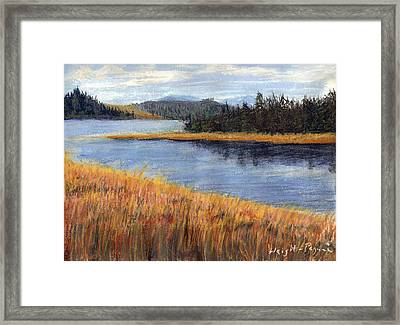 Nestucca River And Bay  Framed Print