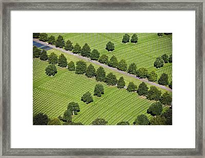 Netherlands, Margraten World War II Cemetery Framed Print by Frans Lemmens