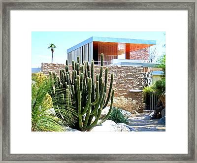 Neutra's Kaufmann House Framed Print