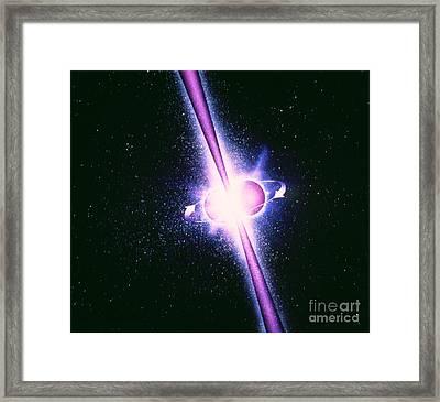 Neutron Stars And Gamma-ray Bursts Framed Print