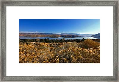 Nevada Lake At Dawn Framed Print