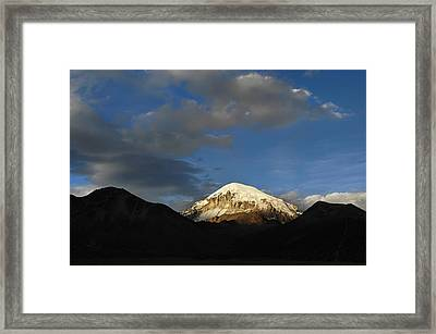 Nevado Sajama At Sunset. Republic Of Bolivia.  Framed Print by Eric Bauer