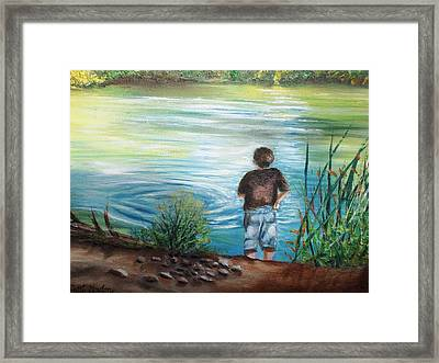 Never Enough Rocks Framed Print by Patti Gordon
