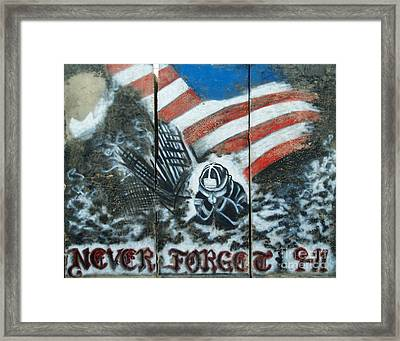 Never Forget 9-11 Framed Print by Unknown