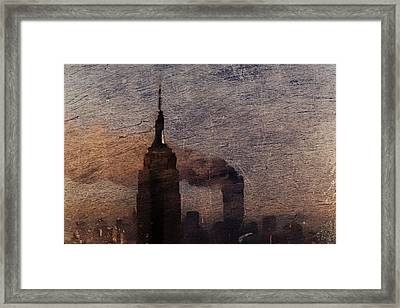 Framed Print featuring the digital art Never Forget by Andrea Barbieri