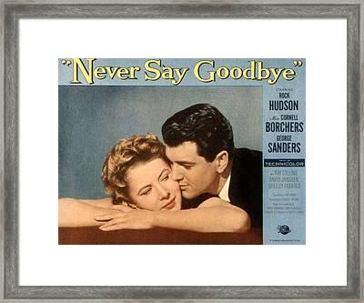 Never Say Goodbye, Cornell Borchers Framed Print by Everett