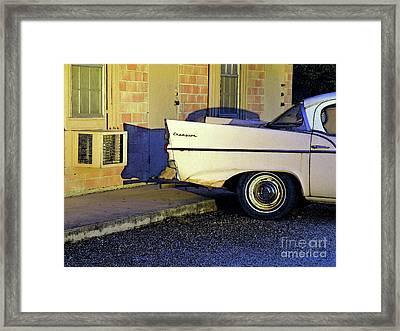 Never Tell Motel Framed Print