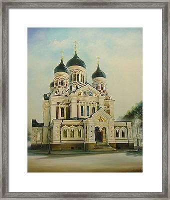 Nevsky Catedral Framed Print by Ahto Laadoga