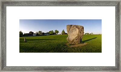 New And Old Stones At Avebury Framed Print by Jan W Faul