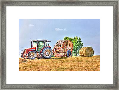 New Bale Framed Print by Barry Jones