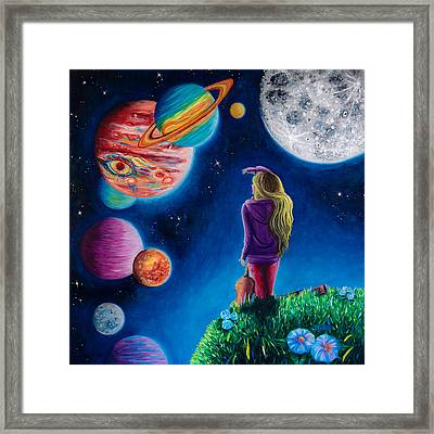 New Beginning At The Ends Of The Earth Framed Print by Michaela Sagatova