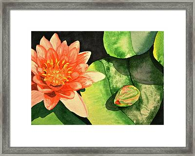 Framed Print featuring the painting New Beginnings by Teresa Beyer