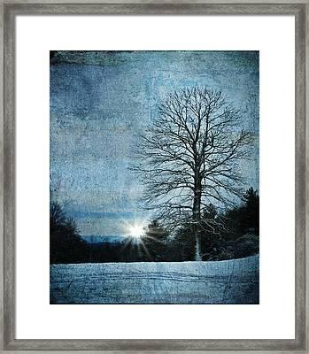 New Blue Sunrise Framed Print