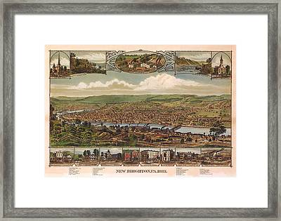 New Brighton Pennsylvania 1883 Framed Print by Donna Leach