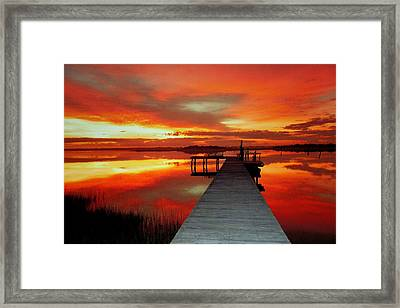 New Dawn Of New Year  Framed Print by Karen Wiles