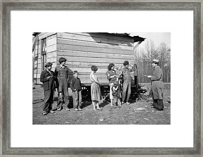New Deal Official Investigating Case Framed Print by Everett