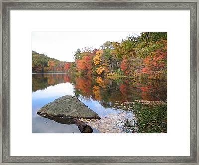 New England Autumn Framed Print by Jf Halbrooks