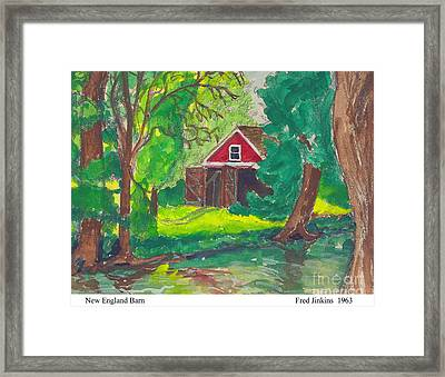 New England Barn Framed Print by Fred Jinkins