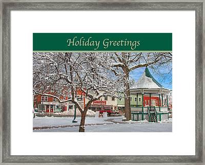 New England Christmas Framed Print by Joann Vitali