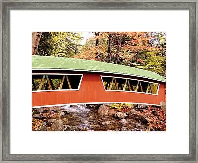 New England Covered Bridge Framed Print by Tony Craddock