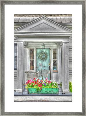 New England Doorway Framed Print by Lisa Goddard