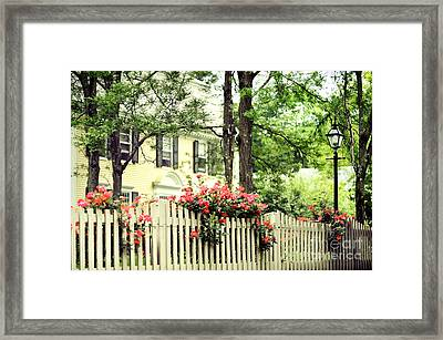 New England Home Framed Print by HD Connelly