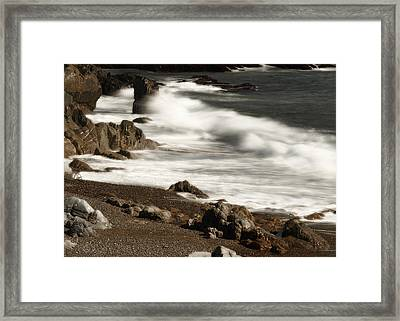 Framed Print featuring the photograph New England Seashore 2 by Raymond Earley