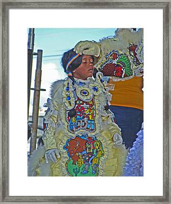 New Generation Of Mardi Gras Indians In New Orleans Framed Print