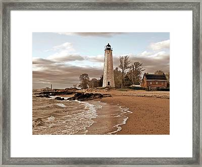 New Haven Lighthouse Framed Print by Frank Garciarubio