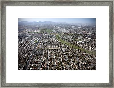 New Homes In Las Vegas Nevada Built Framed Print by Everett