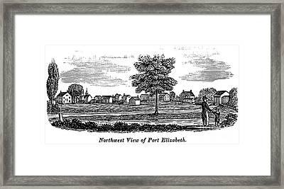 New Jersey: Port Elizabeth Framed Print