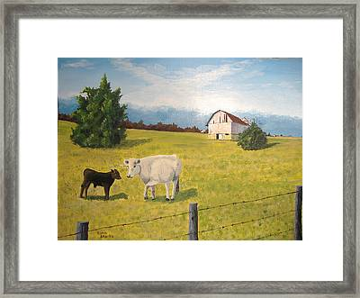 Framed Print featuring the painting New Kid On The Block by Norm Starks