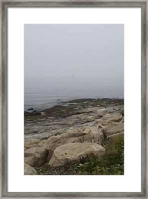 New London Ledge Light In The Dense Fog Framed Print by Todd Gipstein