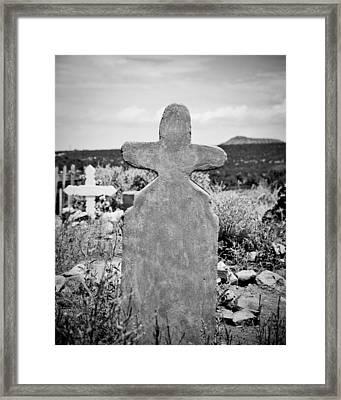New Mexico Cross Framed Print by Sonja Quintero