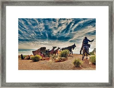 Framed Print featuring the photograph New Mexico History Museum by Anna Rumiantseva